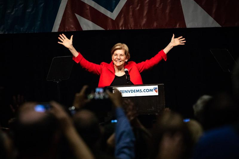 Trump might not be a free man in 2020, says Warren