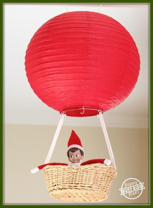 """<p>Perhaps Santa's helper swapped the sleigh for a hot air balloon ride as his mode of transportation. Tip: His idea works for the arrival as well.</p><p><strong>Get the tutorial at <a href=""""https://www.busykidshappymom.org/meet-our-elf-franklin/"""" rel=""""nofollow noopener"""" target=""""_blank"""" data-ylk=""""slk:Busy Kids Happy Mom"""" class=""""link rapid-noclick-resp"""">Busy Kids Happy Mom</a>.</strong></p><p><a class=""""link rapid-noclick-resp"""" href=""""https://www.amazon.com/Just-Artifacts-Red-Paper-Lanterns/dp/B01CEXA6MW/?tag=syn-yahoo-20&ascsubtag=%5Bartid%7C10050.g.22690552%5Bsrc%7Cyahoo-us"""" rel=""""nofollow noopener"""" target=""""_blank"""" data-ylk=""""slk:SHOP PAPER LANTERNS"""">SHOP PAPER LANTERNS</a></p>"""