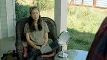 "<p>When the star <a href=""https://people.com/parents/the-walking-dead-christian-serratos-pregnant-expecting-first-child/"" rel=""nofollow noopener"" target=""_blank"" data-ylk=""slk:became pregnant in 2017"" class=""link rapid-noclick-resp"">became pregnant in 2017</a> during the show's seventh season, the actress traded in her usual crop tops for baggier clothes and well-placed weaponry.</p> <p>Her character, Rosita, was also injured at the end of season seven, giving her character an excuse to recuperate at the start of season eight - and Serratos time off with her little one. </p>"
