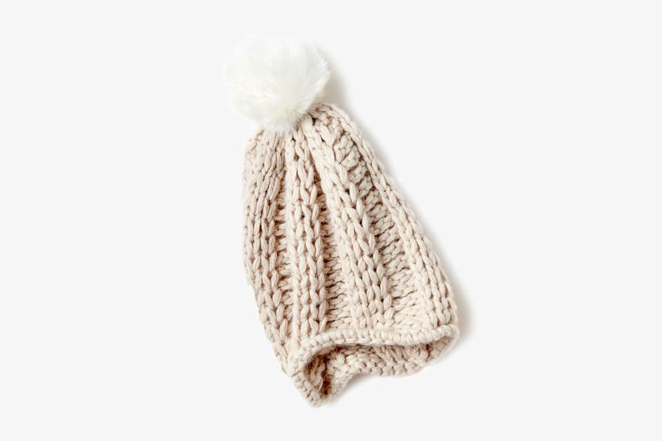 """Luxuriously thick yet thermo-regulating and breathable, this cozy beanie from Aday will be appreciated by snowboarders and <a href=""""https://www.cntraveler.com/story/an-international-guide-to-the-world-of-apres-ski?mbid=synd_yahoo_rss"""" rel=""""nofollow noopener"""" target=""""_blank"""" data-ylk=""""slk:après skiers"""" class=""""link rapid-noclick-resp"""">après skiers</a> alike. Plus, who can resist a pom pom during a bout of winter gloom? $28, Aday. <a href=""""https://www.thisisaday.com/products/heads-up-beanie"""" rel=""""nofollow noopener"""" target=""""_blank"""" data-ylk=""""slk:Get it now!"""" class=""""link rapid-noclick-resp"""">Get it now!</a>"""