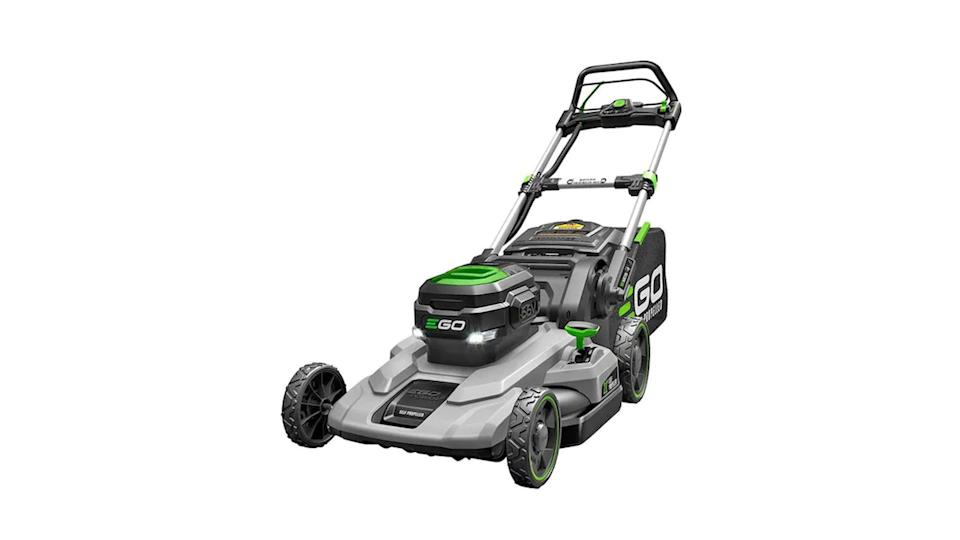 The size of the machine and strength of the battery make the Ego Power+ an effective lawn mower.