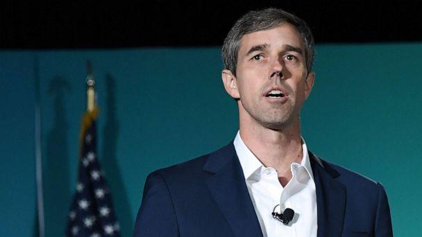 PHOTO: Democratic presidential candidate Beto O'Rourke speaks during the 2020 Public Service Forum hosted by the American Federation of State, County and Municipal Employees (AFSCME) at UNLV on Aug. 3, 2019 in Las Vegas. (Ethan Miller/Getty Images)