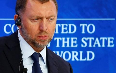 Mr Deripaska at the World Economic Forum - Credit: Reuters