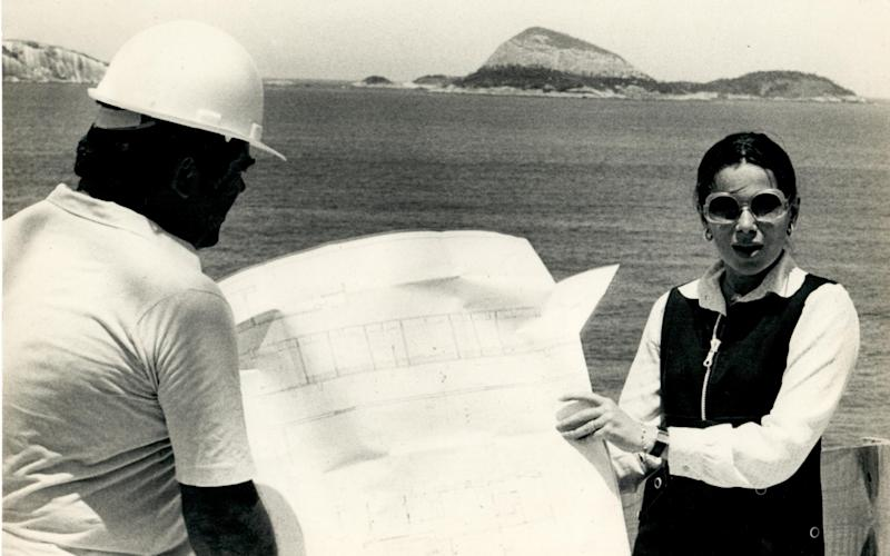 Lady Dunsany in the 1970s, during her career as an architect