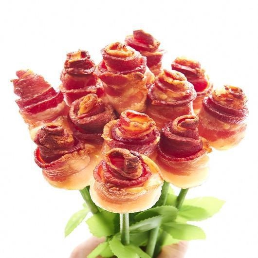 """<strong><h3>The Original Bacon Bouquet</h3></strong><br>On second thought...One dozen bacon roses should do the trick.<br><br><strong>Bacon Bouquets</strong> The Original Bacon Bouquet®, $, available at <a href=""""https://go.skimresources.com/?id=30283X879131&url=https%3A%2F%2Fwww.baconbouquets.com%2Fcollections%2Ffeatured-products%2Fproducts%2Fthe-original-bacon-roses-bouquet"""" rel=""""nofollow noopener"""" target=""""_blank"""" data-ylk=""""slk:Bacon Bouquets"""" class=""""link rapid-noclick-resp"""">Bacon Bouquets</a>"""