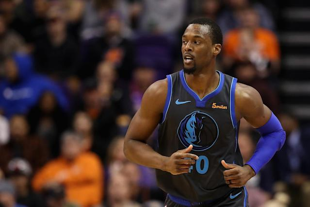 Harrison Barnes was traded in the middle of a game. (Getty Images)