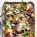"""<p>Snowy evenings are practically begging for an expertly cooked <a href=""""https://www.prevention.com/food-nutrition/a33565385/beef-negative-impact-on-environment-health/"""" rel=""""nofollow noopener"""" target=""""_blank"""" data-ylk=""""slk:steak"""" class=""""link rapid-noclick-resp"""">steak</a>—but that steak doesn't need to be made of meat. It turns out that cauliflower is an excellent dupe, and served on top of a fresh salad, it's the unexpected staple you'll learn to love this winter.</p><p><a href=""""https://www.prevention.com/food-nutrition/recipes/a33810679/roasted-cauliflower-steak-salad-recipe/"""" rel=""""nofollow noopener"""" target=""""_blank"""" data-ylk=""""slk:Get the recipe »"""" class=""""link rapid-noclick-resp""""><strong><em>Get the recipe »</em></strong></a></p>"""