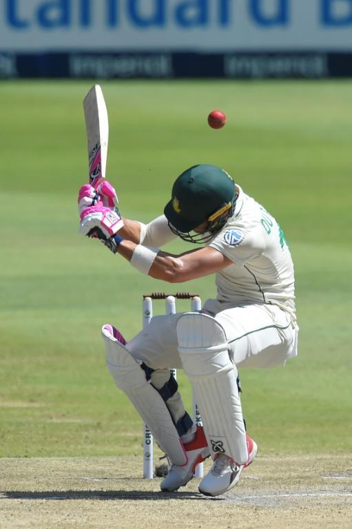 Faf du Plessis scored 38 runs in his final Test as South Africa skipper in January (AFP Photo/Christiaan Kotze )