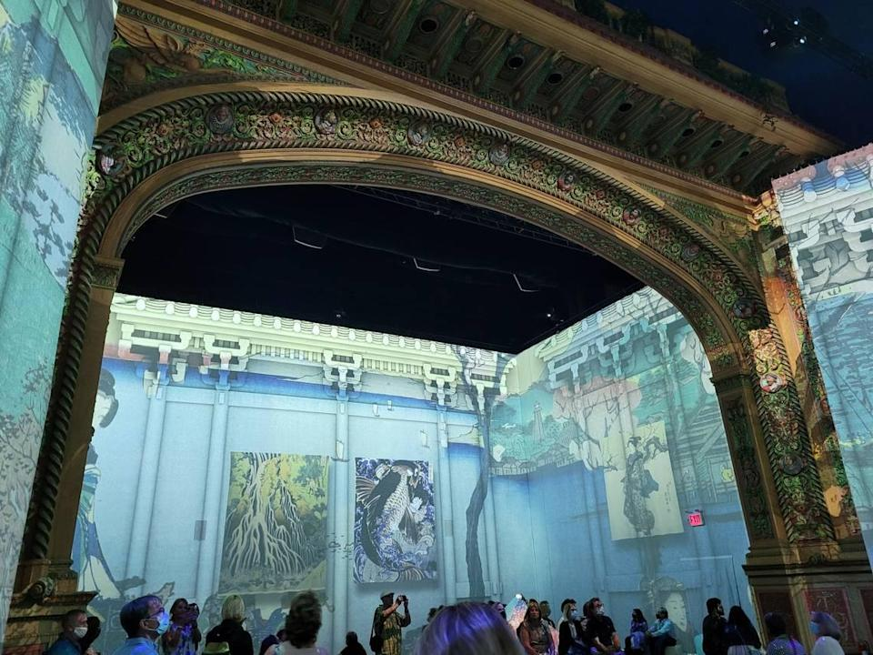 The arch at the Olympia Theater is part of the set for 'The Immersive Experience.'