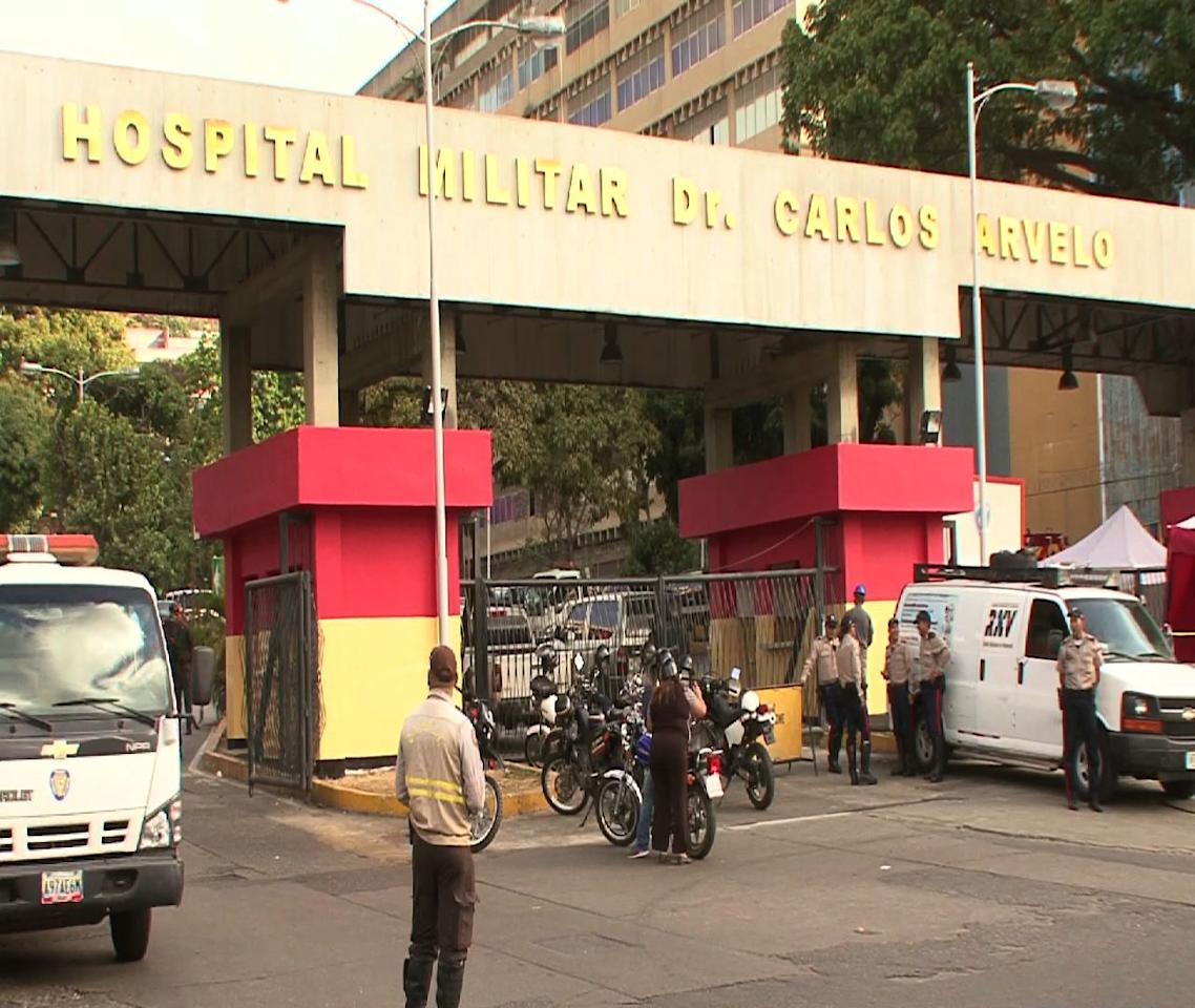 Venezuelan President Hugo Chavez remained silent and out of sight in a military hospital in Caracas on Tuesday shortly after returning from Cuba where he underwent 10 weeks of cancer treatment.