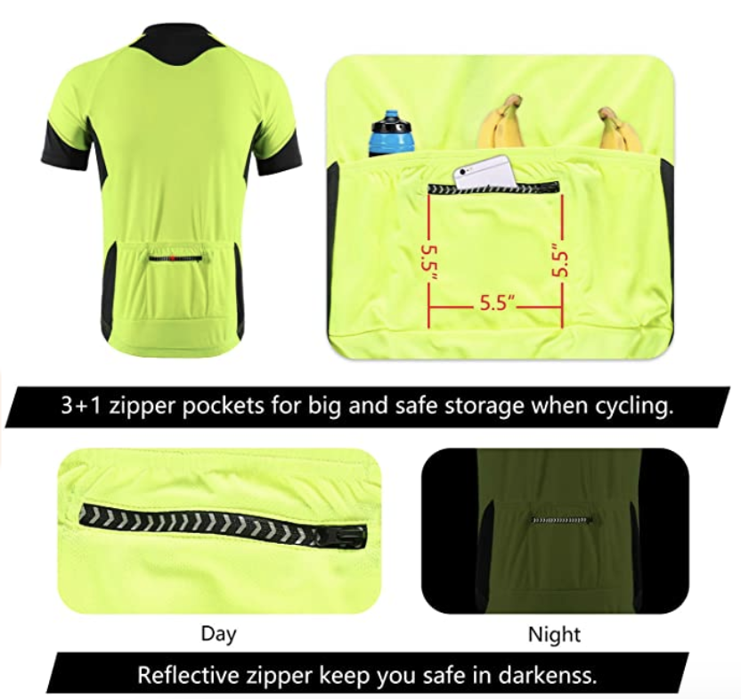 Men's cycling jerseys zipper pockets, S$27.67. PHOTO: Amazon