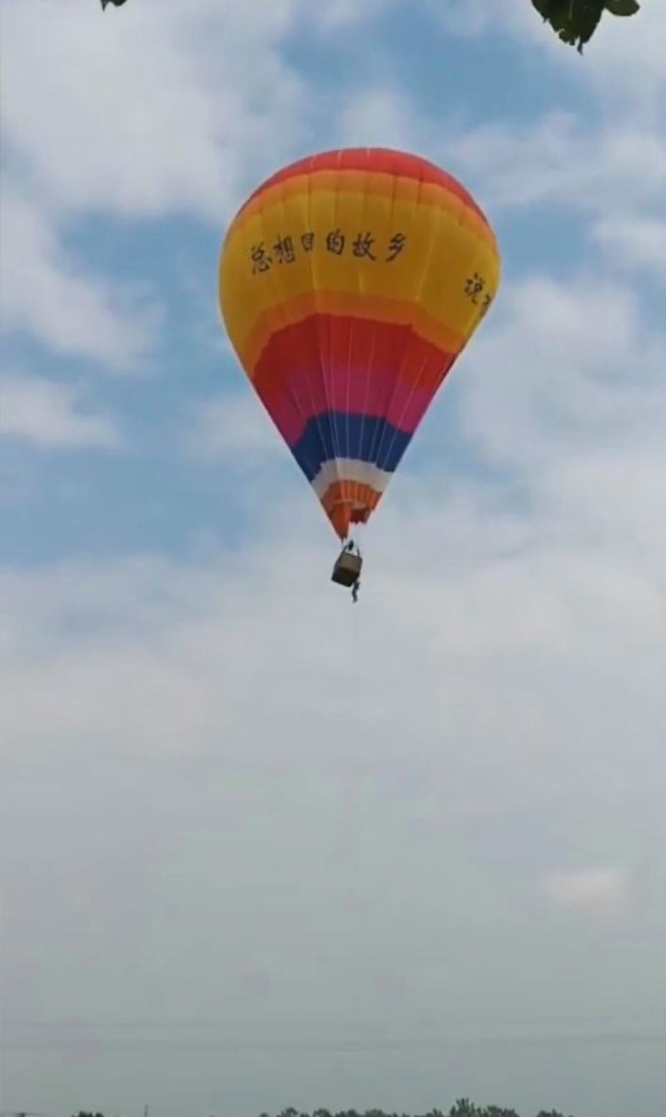 The student was working on the hot air balloon at the time of his fall. Source: Newsflash/Australscope