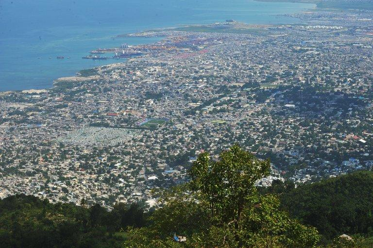 An aerial view of Port-au-Prince, the capital of Haiti, on May 13, 2013