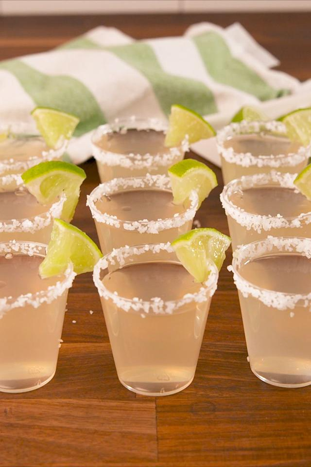 """<p>These could be dangerous.</p><p>Get the recipe from <a rel=""""nofollow"""" href=""""https://www.delish.com/cooking/recipe-ideas/recipes/a58007/margarita-jell-o-shots-recipe/"""">Delish</a>.</p><p><strong><em>BUY NOW: Espolon Tequilla, $50, <a rel=""""nofollow"""" href=""""https://drizly.com/espolon-blanco/p3230"""">drizly.com</a>.</em></strong></p>"""
