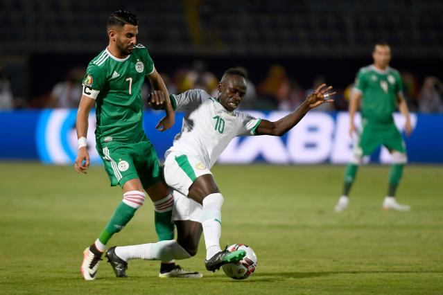 Algeria's Riyad Mahrez, left, and Senegal's Sadio Mane are the two big names of the Africa Cup of Nations final. (Getty)