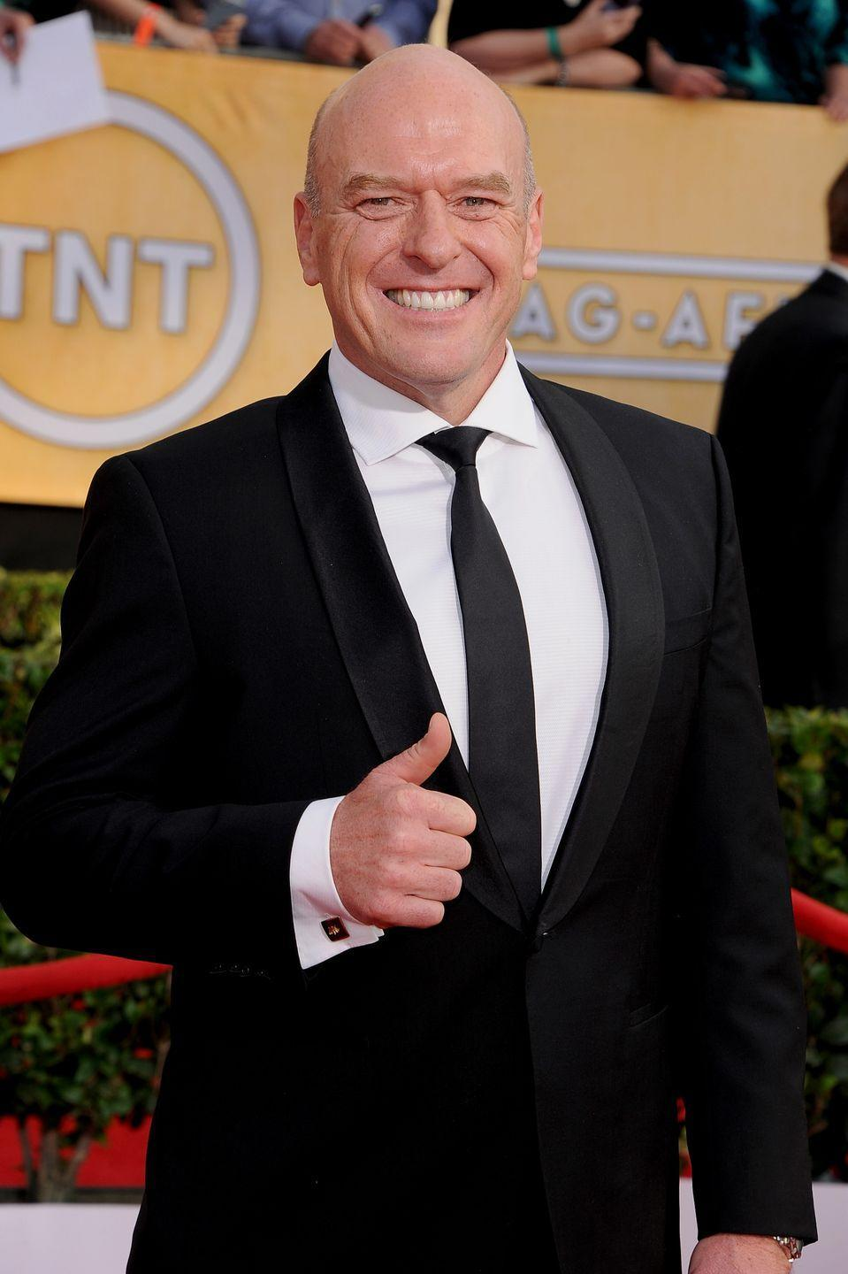 "<p>Although fans weren't thrilled with Hank Schrader's death, it was apparently Dean Norris's idea. ""I called [series creator] Vince [Gilligan] and I said, 'Hey man, maybe Hank should die in the first eight. Wouldn't that be a great ending?,'"" Norris told <a href=""https://nationalpost.com/entertainment/television/breaking-bads-dean-norris-to-series-creator-please-kill-my-character"" rel=""nofollow noopener"" target=""_blank"" data-ylk=""slk:The National Post"" class=""link rapid-noclick-resp"">The National Post</a>. Apparently, the actor was happy to leave, as the show's split season 5 (two sets of eight episodes) was going to conflict with other projects he had lined up. </p>"