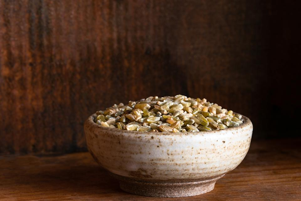 Uncooked Freekeh in a Bowl
