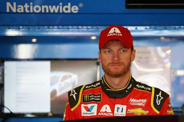 """<a class=""""link rapid-noclick-resp"""" href=""""/nascar/sprint/drivers/88/"""" data-ylk=""""slk:Dale Earnhardt Jr."""">Dale Earnhardt Jr.</a> has suffered multiple concussions in his career, including one that sidelined him for 18 races in 2016. (Getty)"""