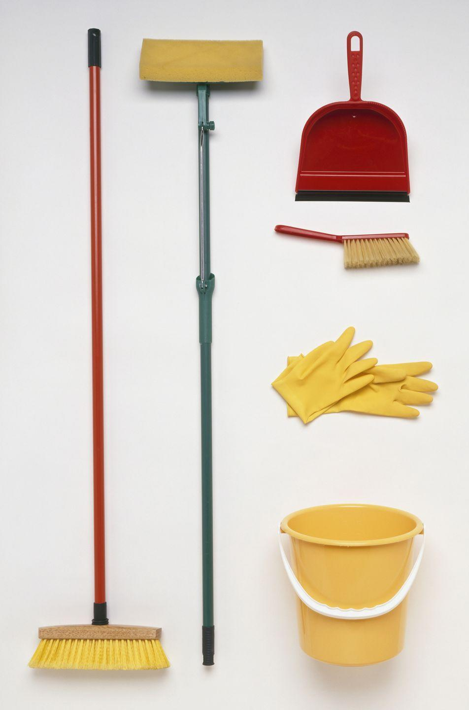 """<p>Stock up on these cleaning essentials for just <a href=""""https://www.dollartree.com/Cleaning-Storage/cleaning-tools/Mops-Brooms-Dusters/1470c508c1507/index.cat"""" rel=""""nofollow noopener"""" target=""""_blank"""" data-ylk=""""slk:$1 each at stores like Dollar Tree"""" class=""""link rapid-noclick-resp"""">$1 each at stores like Dollar Tree</a> compared to paying up to $15 elsewhere. </p>"""