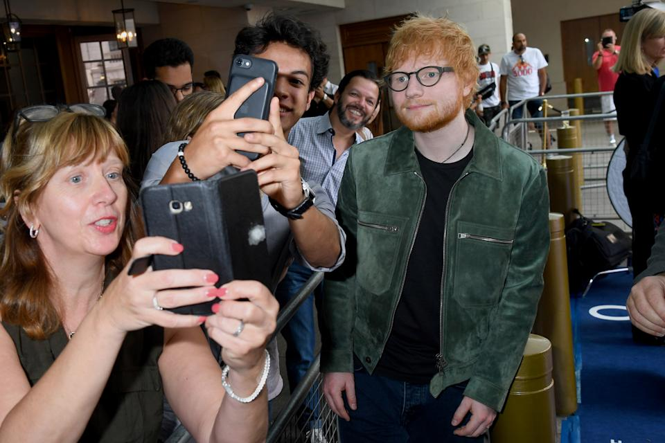 LONDON, ENGLAND - JULY 05: Ed Sheeran attends the Nordoff Robbins O2 Silver Clef Awards 2019 at Grosvenor House on July 05, 2019 in London, England. (Photo by Dave J Hogan/Getty Images)
