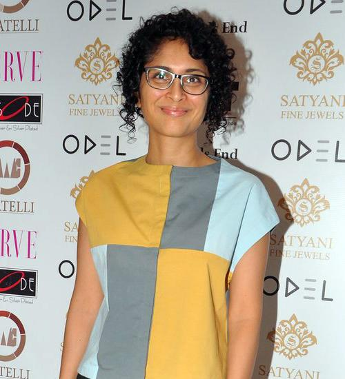 Kiran Rao works the curly equivalent of a graduated bob