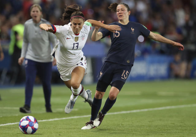 Alex Morgan and the USWNT didn't trip up vs. France, but England won't be a slouch either. (AP)