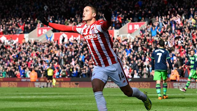 Mark Hughes has revealed Stoke City will be without Ibrahim Afellay for the next four to five weeks due to a knee injury.