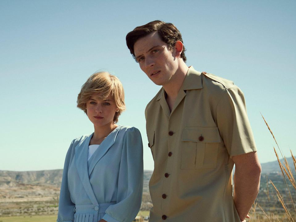 <p>Prince Charles (Josh O'Connor) and Princess Diana (Emma Corrin) in 'The Crown'</p> (Des Willie/Netflix)