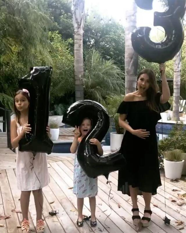 """<p>The actress and beauty mogul revealed she was pregnant with her third child with the help of balloons. </p><p><a href=""""https://www.instagram.com/p/BWql8eXBX-D/?taken-by=jessicaalba"""" rel=""""nofollow noopener"""" target=""""_blank"""" data-ylk=""""slk:See the original post on Instagram"""" class=""""link rapid-noclick-resp"""">See the original post on Instagram</a></p>"""