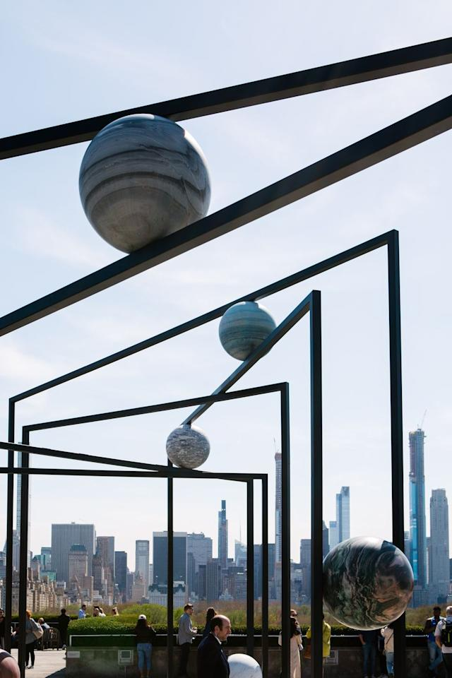 """<p>Art-lovers, take note. This sculpture garden-meets-bar atop the <a href=""""https://www.metmuseum.org/visit/food-and-drink"""" target=""""_blank"""">The Metropolitan Museum of Art</a> not only affords barhoppers the chance to take in some of the Met's stunning installations like Alicja Kwade's<em> ParaPivot</em>, but also breathtaking vistas of Central Park and the NYC skyline, all while enjoying boozy seasonal treats like the bourbon and white peach popsicle or a bottled Old Fashioned.  </p>"""
