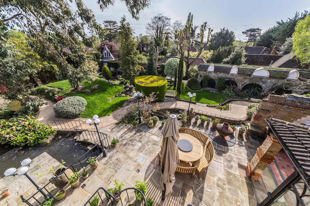 <p>Trevor Wynne-Jones has spent 30 years transforming the site of an old bungalow into a magical mix of Venetian palace and medieval castle. </p>