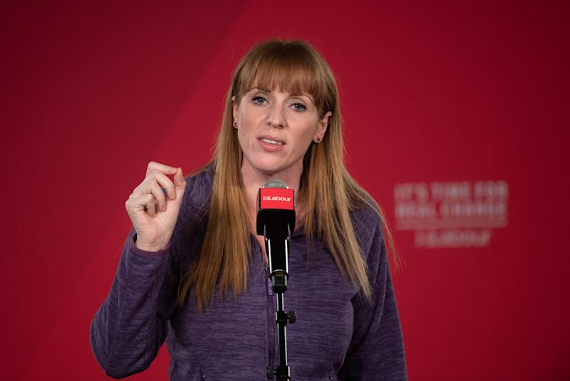 File photo dated 30/11/19 of Angela Rayner, who has won the Labour party deputy leadership race by 52.6% of the vote.