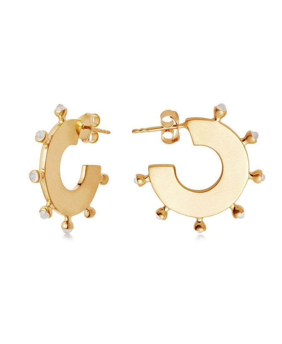 "If you like bold earrings, add these hoops to your rotation. You can wear them solo or to kick off an ear party. $136, Missoma. <a href=""https://www.missoma.com/collections/sale/products/rainbow-moonstone-gold-calima-hoops?"" rel=""nofollow noopener"" target=""_blank"" data-ylk=""slk:Get it now!"" class=""link rapid-noclick-resp"">Get it now!</a>"