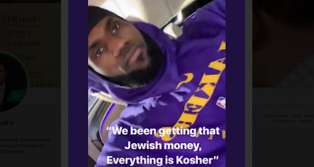 "<a class=""link rapid-noclick-resp"" href=""/nba/players/3704/"" data-ylk=""slk:LeBron James"">LeBron James</a> shared offensive song lyrics to his Instagram account over the weekend. (via Darren Rovell)"