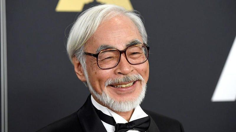 """We located an elusive """"smiling Miyazaki"""" just for this occasion."""