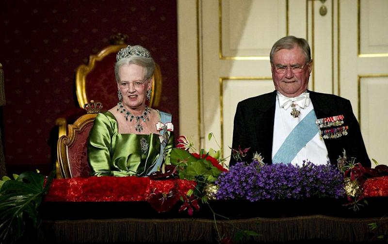 Henrik was no where to be seen during his wife's 75th birthday celebrations in 2015. Photo: Getty