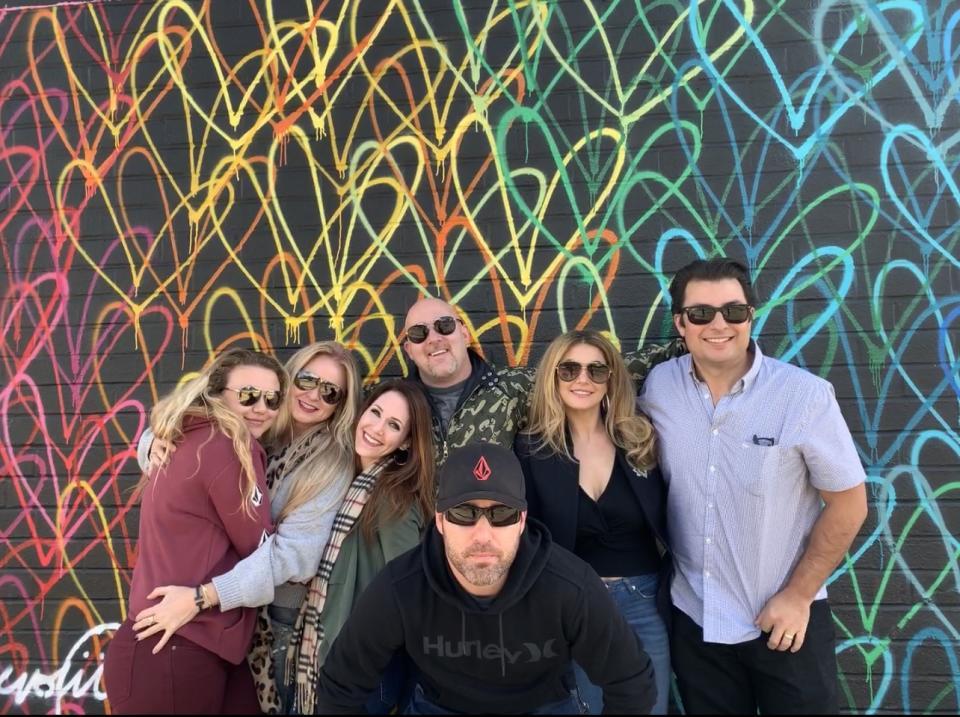 Kristen with Family in Los Angeles coronavirus restrictions Christmas