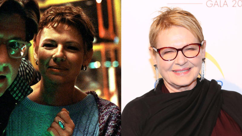 Dianne Wiest in 1987 and 2019. (Credit: Warner Bros/Sylvain Gaboury/Patrick McMullan via Getty Images)