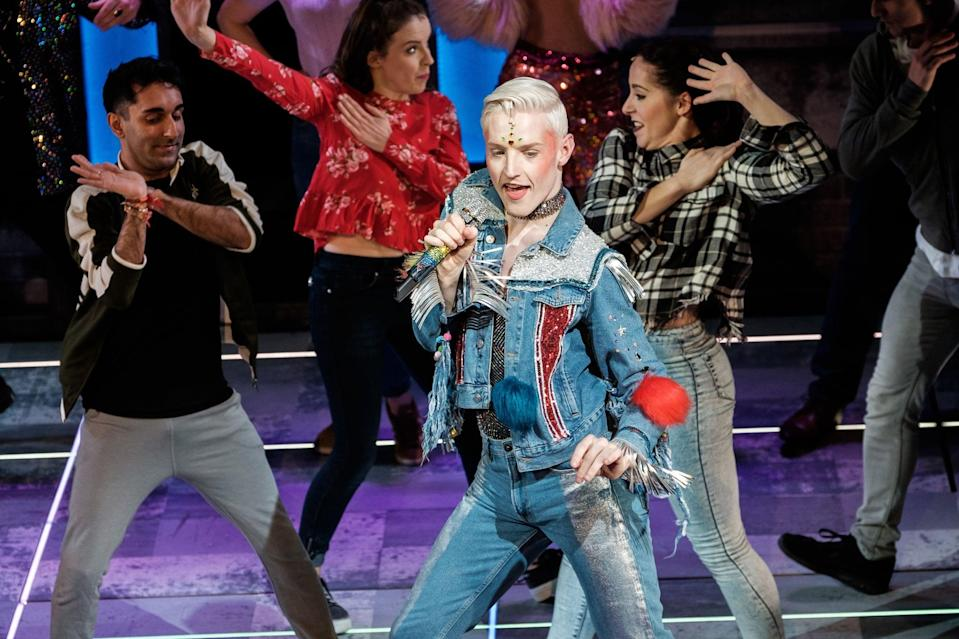 <p>John was cast in the lead role of critically acclaimed musical <strong>Everybody's Talking About Jamie</strong>. The production, based on a 2011 BBC documentary entitled <strong>Jamie: Drag Queen At 16</strong>, follows 16-year-old schoolboy Jamie as he realizes his dream to become a drag queen. Living on a Sheffield council estate, Jamie has to overcome the prejudice that comes with being his real self to attend his school prom in full drag. The show opened its original run in Sheffield itself, and after winning a string of awards - including one for best performance in a musical for John at the UK Theatre Awards - the show secured a spot in London's West End. The success truly cemented John as a performer to watch.</p>
