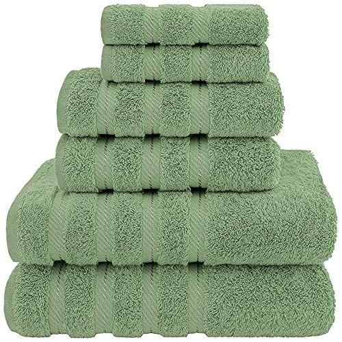 """<p><strong>American Soft Linen</strong></p><p>amazon.com</p><p><strong>$33.99</strong></p><p><a href=""""https://www.amazon.com/dp/B08JM7GWQM?tag=syn-yahoo-20&ascsubtag=%5Bartid%7C10055.g.37348516%5Bsrc%7Cyahoo-us"""" rel=""""nofollow noopener"""" target=""""_blank"""" data-ylk=""""slk:Shop Now"""" class=""""link rapid-noclick-resp"""">Shop Now</a></p><p>If your bathroom could use a fluffy towel upgrade, behold. This best-selling set including two washcloths, two hand towels and two bath towels. A handful of other colors, including crisp white, are also on sale for this price right now.</p>"""