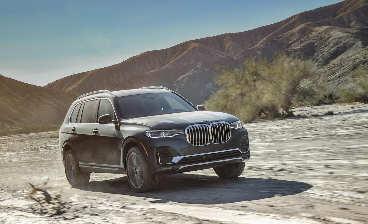 <p>The X7, at nearly 17 feet long, is BMW's largest SUV. </p>