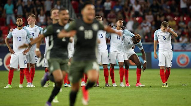 <p>It's a tale as old as time: England losing in a penalty shootout.</p><p>England bowed out of the 2017 Under-21 European Championships to Germany in heartbreaking fashion Tuesday, taking a 2-2 draw into penalty kicks before losing a 4-3 shootout. The win sends the Germans to the final. But this is not a new feeling for the English. This narrative has been played out before. In honor of England's continued failures from 12 yards away, here's a look back at some recent history from the senior team.</p><p>World Cup 1990: England vs. West Germany</p><p>It all started over 25 years ago when West Germany took down England in the semifinals. The two teams battled back and forth in the shootout, trading goals until the Germans finally pulled away. Stuart Pearce couldn't convert and Chris Waddle shot far over the crossbar to mark the end of the team's tournament run.</p><p>Euro 1996: England vs. Germany</p><p>Days after a shootout victory in the quarterfinals, England once again faced a pesky German team in a semifinal match. As the host country, England faced the pressure and expectations of a nation. A failed attempt by Gareth Southgate sent the squads into sudden death, where Andreas Molle would send the Germans onward once again.</p><p>World Cup 1998: England vs. Argentina</p><p>This classic, which featured an iconic red card for David Beckham, saw a promising opportunity for England to take a shootout. After drawing 2-2, the teams traded goals and a second-attempt save for each in the shootout. Argentina would take the penalties 4-3, though, and take the quarterfinal.</p><p>Euro 2004: England vs. Portugal</p><p>Six years later, another 2-2 draw sent England back to a quarterfinal shootout. Although Beckham missed the first shot, his squad scrambled back into the match and tied the score 5-5. That's when Portugal goalkeeper Ricardo stepped up and blasted the ball into the back of the net, sending the English on their way.</p><p>World Cup 2006: England vs. Portugal</p><p>Another year, another shootout, another quarterfinal. This time, a 0-0 draw that featured a Beckham injury sent England to penalties. Portugal missed two of its first three, but England failed to take an advantage, with both Frank Lampard and Steven Gerrard missing their opening attempts. The Portuguese took a lead, Jamie Carragher missed and Cristiano Ronaldo finished the 3-1 Portugal shootout victory.</p><p>Euro 2012: England vs. Italy</p><p>England looked to win the quarterfinal match in penalties after a goalless draw. Goals from Gerrard and Wayne Rooney put the team up 2-1, but everything quickly collapsed. The Italians would net three unanswered penalties and eliminate England in familiar fashion.</p><p>U-17 Euro 2017: England vs. Spain</p><p>The final of the Under-17 European Championship in May 2017 went to Spain by way of a devastating penalty shootout. The young England team, which was leading with just seconds to go, couldn't come through at the end of its 80-minute match. </p><p>U-21 Euro 2017: England vs. Germany</p><p>The most recent shootout disappointment goes to the Under-21 team, which fell to Germany on Tuesday. It was a feat in and of itself to make it to a shootout in the semifinal against a talented German side, but once again England's tournament ended in defeat. </p><p>To be fair to the English, the team did snag a shootout victory over Spain in the 1996 Euro quarterfinals. But that joy was squashed four days later against Germany.</p><p>This article will inevitably be updated after the 2018 World Cup. </p>