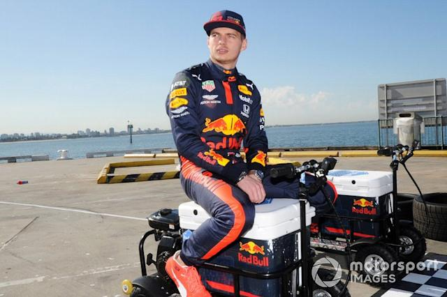 """Max Verstappen, Red Bull Racing at a Red Bull event Grand Pier in St Kilda <span class=""""copyright"""">John Toscano / Motorsport Images</span>"""