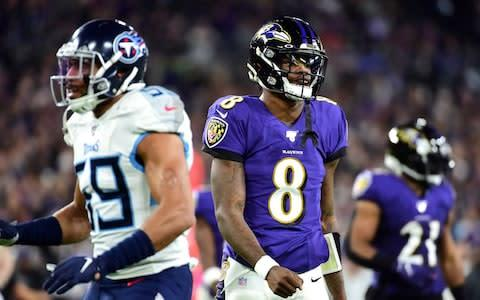 <span>Lamar Jackson could not inspire his side to victory on this occasion </span> <span>Credit: Evan Habeeb/USA TODAY Sports </span>