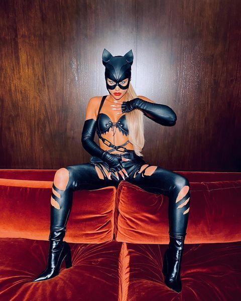 """<p>The model came dressed as Halle Berry's titular character Catwoman for Kendall Jenner's 25th Birthday party.</p><p><a href=""""https://www.instagram.com/p/CHDvxu-JUVL/"""" rel=""""nofollow noopener"""" target=""""_blank"""" data-ylk=""""slk:See the original post on Instagram"""" class=""""link rapid-noclick-resp"""">See the original post on Instagram</a></p>"""