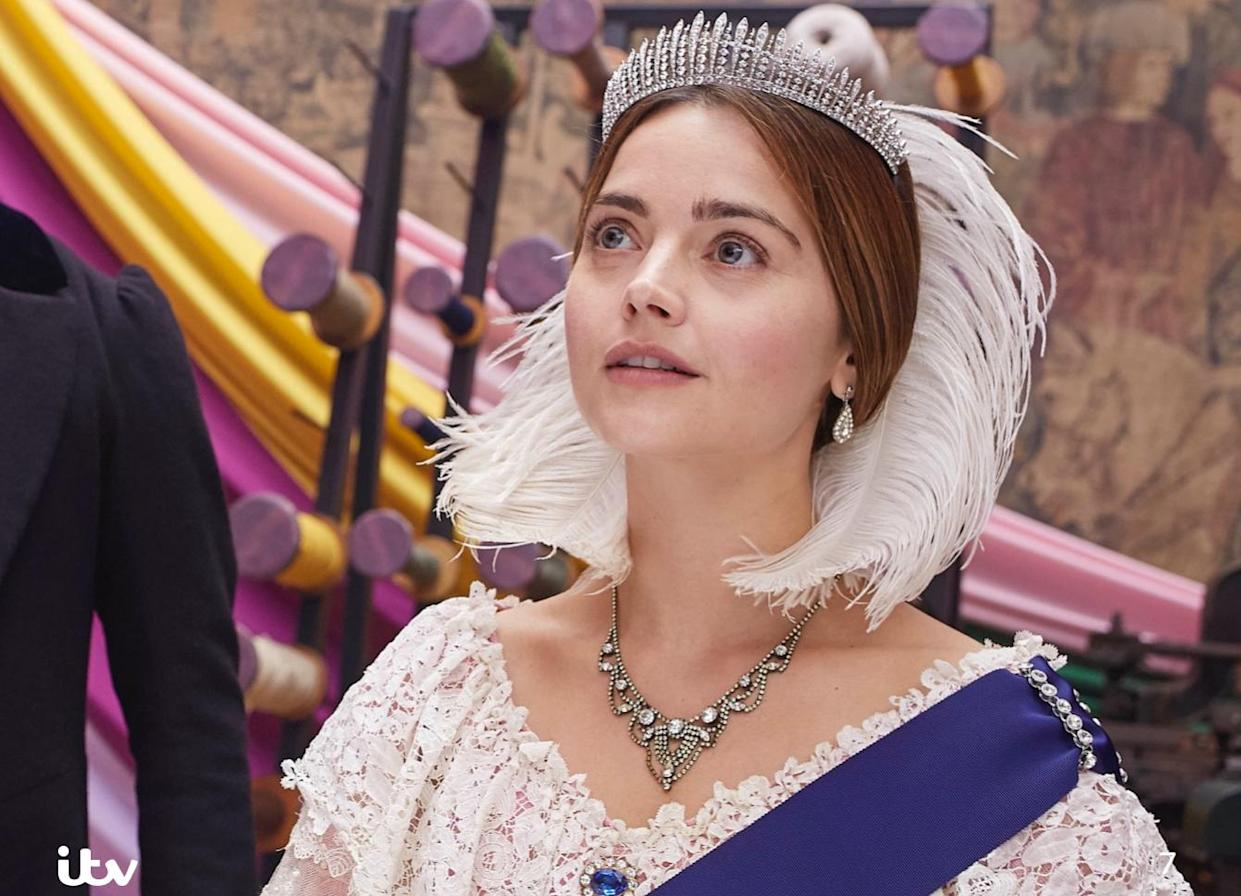 Jenna Coleman reprises the title role in the third series of 'Victoria' on ITV. (Credit: ITV)
