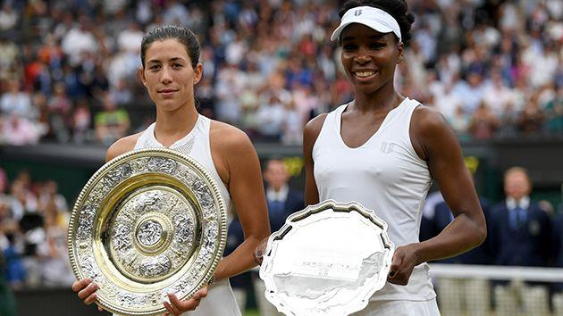 Muguruza and Venus. Image: Getty