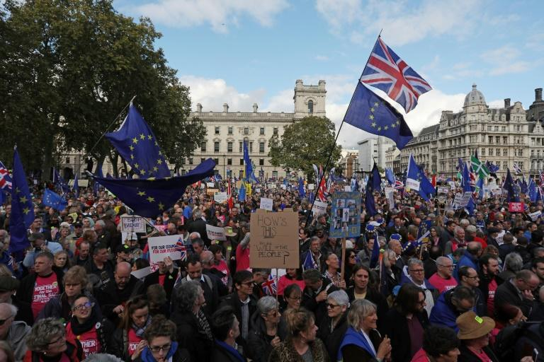 Thousands joined a rally calling for a second referendum on Brexit