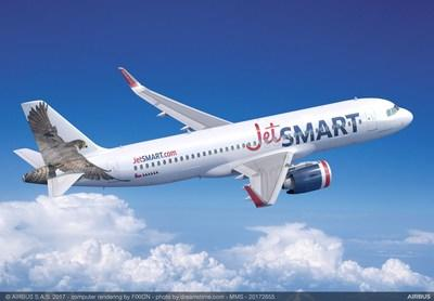 JetSMART has selected the Pratt & Whitney GTF™ engine to power its 85 firm order Airbus A320neo family aircraft.