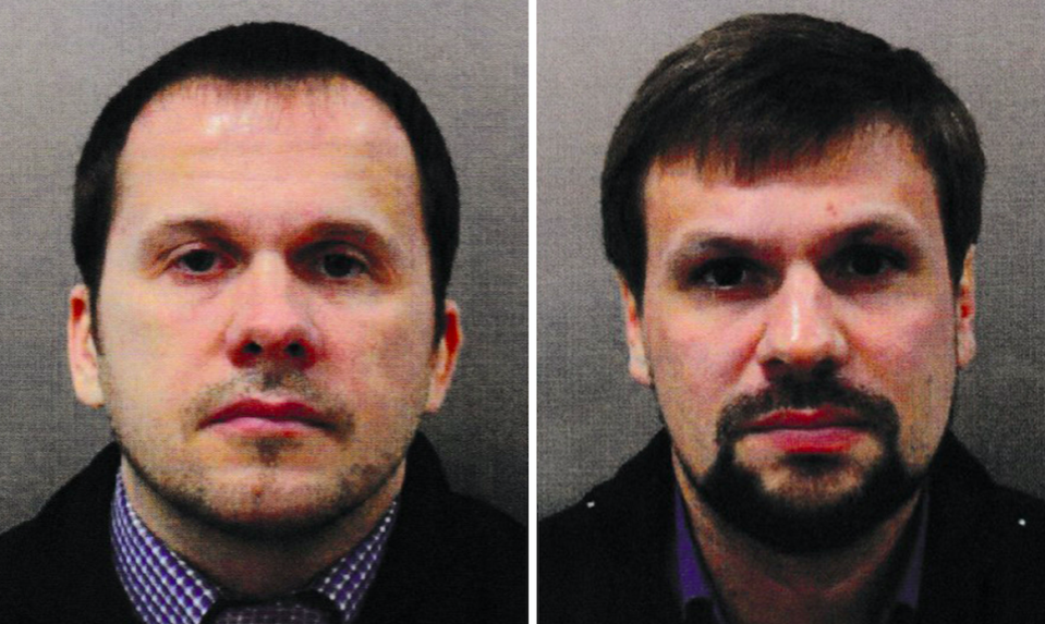 <em>Alexander Petrov (left) and Ruslan Boshirov are the two men alleged to have been behind the March nerve agent poisoning (PA)</em>